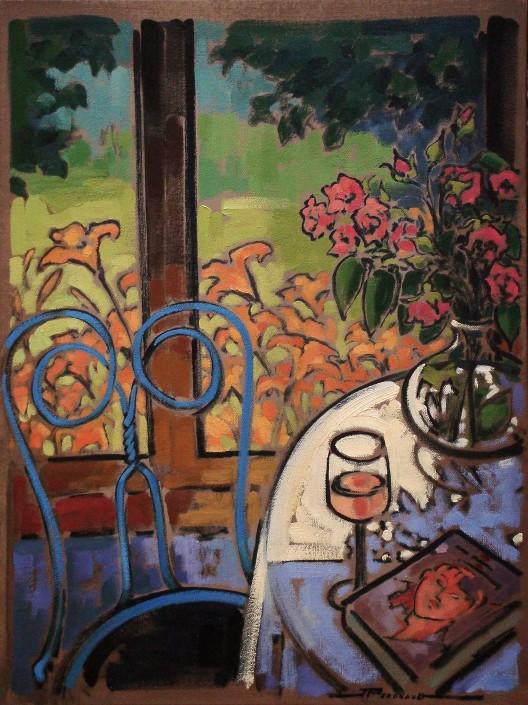 Artiste peintre fleurs